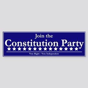 Constitution Party Bumper Sticker